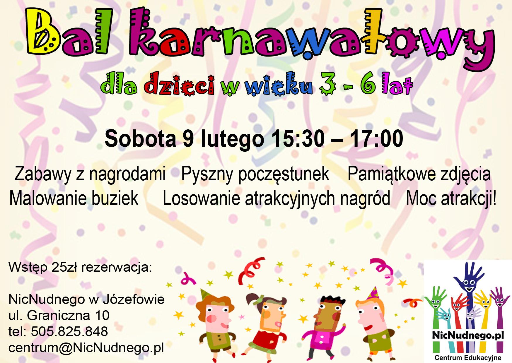 Bal Karnawałowy Dla Dzieci Nicnudnego Zajęcia Dodatkowe Urodziny